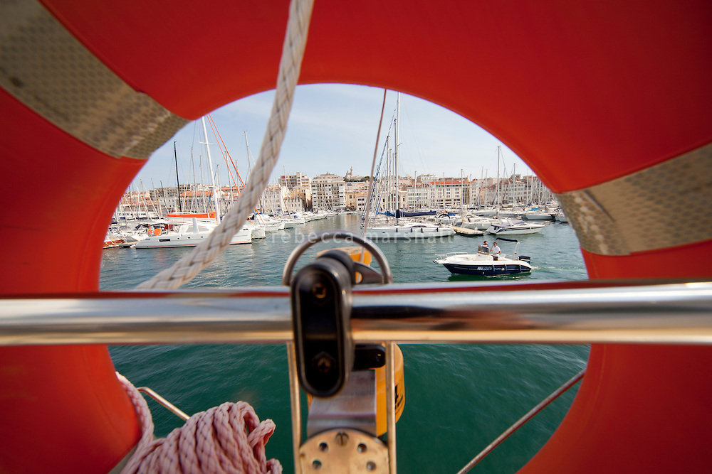 View of le Vieux Port during a boat ride operated by Croisieres Marseille Calanques, Marseille, 16 June 2011