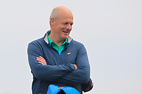 Mick McCabe on the bag for Pat Murray (Clontarf) on the 9th tee during Round 1 of The East of Ireland Amateur Open Championship in Co. Louth Golf Club, Baltray on Saturday 1st June 2019.<br /> <br /> Picture:  Thos Caffrey / www.golffile.ie<br /> <br /> All photos usage must carry mandatory copyright credit (© Golffile | Thos Caffrey)