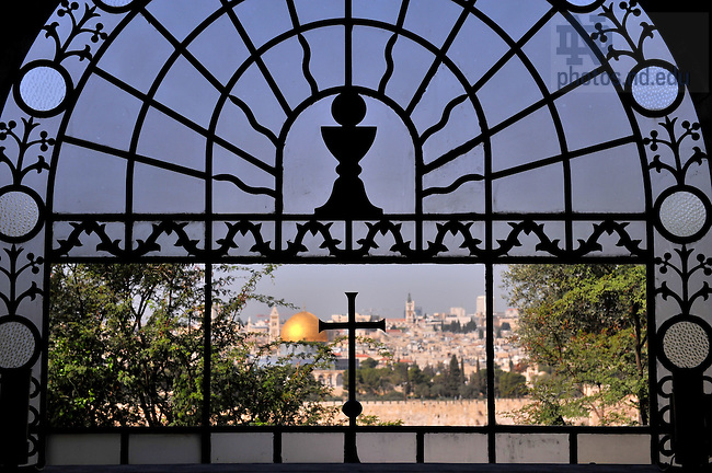 View of Jerusalem from Dominus Flevit Church, located on the upper western slope of the Mount of Olives...Photo by Matt Cashore/University of Notre Dame