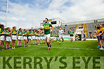 Bryan Sheehan leads out Kerry against Clare in the Munster Senior Football Championship at Fitzgerald Stadium in Killarney on Sunday.