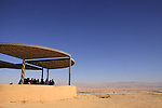 Israel, Arava region, a vista point at the Peace route