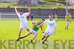 John Mitchels Ciaran Deane sells a great dummy to South Kerry's Mike Keating & Darren O'Sullivan creating enough space to convert this move into another score for the visitors at the Con Keating Park in Cahersiveen on Tuesday 28th June.....Ref Jim OG