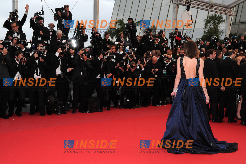Milla Jovovich .Cannes 22/5/2013 .66mo Festival del Cinema di Cannes 2013 .Foto Panoramic / Insidefoto .ITALY ONLY