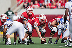 Wisconsin Badgers center Peter Konz (66) and quarterback Scott Tolzien (16) during an NCAA college football game against the San Jose State Spartans on September 11, 2010 at Camp Randall Stadium in Madison, Wisconsin. The Badgers beat San Jose State 27-14. (Photo by David Stluka)