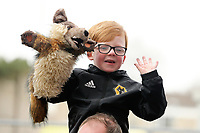 A young Wolverhampton Wanderers fan waits for his sides team coach to arrive ahead of kick-off at Turf Moor<br /> <br /> Photographer Rich Linley/CameraSport<br /> <br /> The Premier League - Burnley v Wolverhampton Wanderers - Saturday 30th March 2019 - Turf Moor - Burnley<br /> <br /> World Copyright © 2019 CameraSport. All rights reserved. 43 Linden Ave. Countesthorpe. Leicester. England. LE8 5PG - Tel: +44 (0) 116 277 4147 - admin@camerasport.com - www.camerasport.com