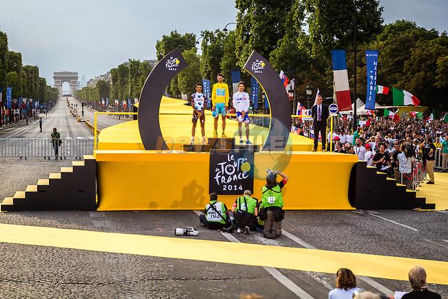 Vincenzo Nibali, Astana Pro Team, Tour de France, Stage 21: Évry > Paris Champs-Élysées, UCI WorldTour, 2.UWT, Paris Champs-Élysées, France, 27th July 2014, Photo by Thomas van Bracht