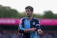 Joe Jacobson of Wycombe Wanderers during the Sky Bet League 2 match between Wycombe Wanderers and Plymouth Argyle at Adams Park, High Wycombe, England on 12 September 2015. Photo by Andy Rowland.