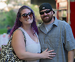 Andie and Cameron Stafford during the Feed the Camel food truck night at the McKinley Arts Center in Reno on Wednesday, June 28, 2017.