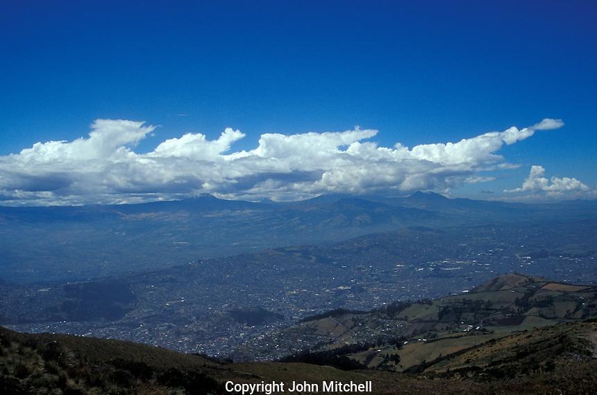 The valley of Quito, Ecuador