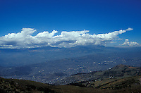 The valley of Quito, Ecuador