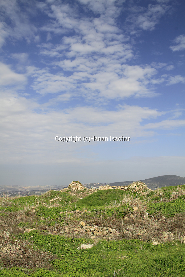 Israel, Jezreel Valley, a view of Tel Jezreel