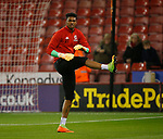 Jamal Blackman of Sheffield Utd warms up during the Championship match at the Bramall Lane Stadium, Sheffield. Picture date 27th September 2017. Picture credit should read: Simon Bellis/Sportimage