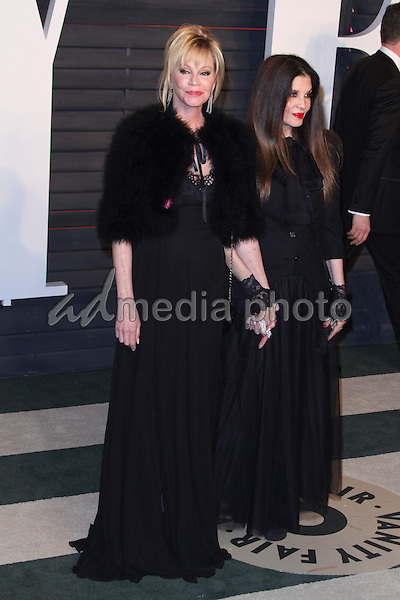 28 February 2016 - Beverly Hills, California - Melanie Griffith, Loree Rodkin. 2016 Vanity Fair Oscar Party hosted by Graydon Carter following the 88th Academy Awards held at the Wallis Annenberg Center for the Performing Arts. Photo Credit: AdMedia