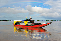 Typical passenger boat on Suriname River Paramaribo