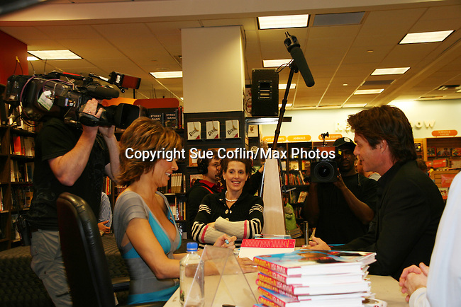 Lisa Rinna signs her new book Rinnavation for her husband Harry Hamlin as it debuts today, May 19. 2009 at Borders at Columbus Circle, New York City, New York. (Photo by Sue Coflin/Max Photos)