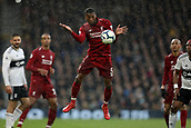 17th March 2019, Craven Cottage, London, England; EPL Premier League football, Fulham versus Liverpool; Georginio Wijnaldum of Liverpool controls the ball off his chest
