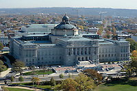 The Thomas Jefferson Building of the Library of Congress can be seen from the top of the recently restored US Capitol dome, November 15, 2016 in Washington, DC.<br /> Credit: Olivier Douliery / Pool via CNP /MediaPunch