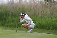 Sandra Gal (GER) lines up a putt on the 2nd hole during the final round of the ShopRite LPGA Classic presented by Acer, Seaview Bay Club, Galloway, New Jersey, USA. 6/10/18.<br /> Picture: Golffile   Brian Spurlock<br /> <br /> <br /> All photo usage must carry mandatory copyright credit (&copy; Golffile   Brian Spurlock)