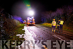 The scene of a road traffic accident at Curraheen on Tuesday evening.