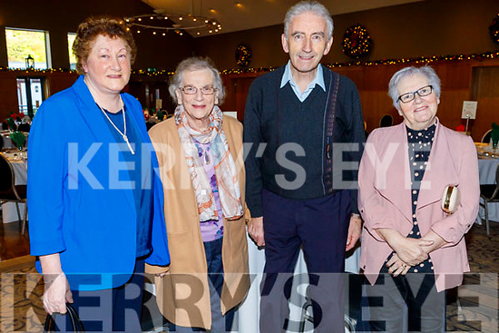 Eileen, Sheila and Jimmy Walsh and Bridie O'Connell  enjoying the Abbeydorney/Kilflynn Active Retirement Christmas party in the Ballyroe Heights Hotel on Sunday.