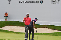 Jon Rahm (ESP) after sinking his putt on 17 during Rd4 of the 2019 BMW Championship, Medinah Golf Club, Chicago, Illinois, USA. 8/18/2019.<br /> Picture Ken Murray / Golffile.ie<br /> <br /> All photo usage must carry mandatory copyright credit (© Golffile | Ken Murray)