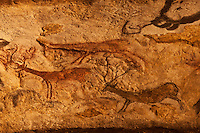 Europe/France/Aquitaine/24/Dordogne/Périgord Noir/Montignac: Grotte de Lascaux II - Grottes ornée  paléolithique - Cerf [Non destiné à un usage publicitaire - Not intended for an advertising use]