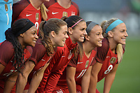 San Diego, CA - Sunday January 21, 2018: USWNT Starting XI prior to an international friendly between the women's national teams of the United States (USA) and Denmark (DEN) at SDCCU Stadium.