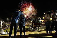 STANFORD, CA - JUNE 29: Post match fireworks during a Major League Soccer (MLS) match between the San Jose Earthquakes and the LA Galaxy on June 29, 2019 at Stanford Stadium in Stanford, California.