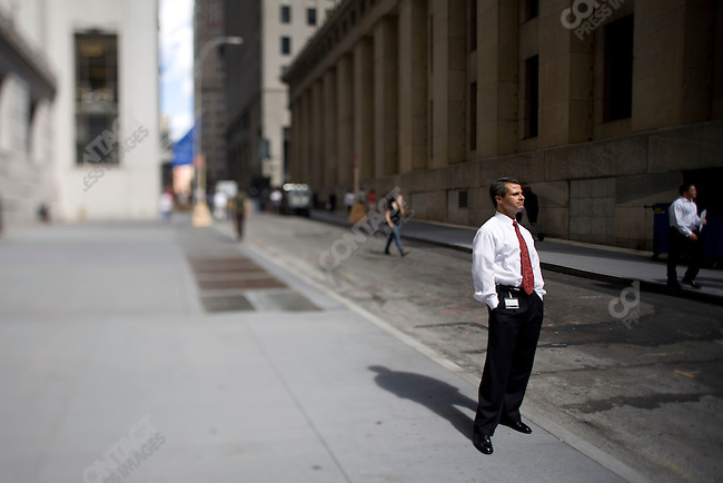 The New York Stock Exchange on the day the Lehman Brothers firm filed for bankruptcy protection, Wall Street, New York City, New York, USA, September 15, 2008