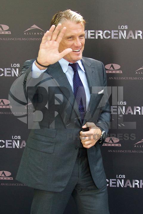 MADRI, ESPANHA, 08 AGOSTO DE 2012 - SESSAO DE FOTOS OS MERCENARIOS 2 -  O ator sueco Dolph Lundgren durante sessao de fotos do filme Os Mercenarios 2 no Hotel Hitz em Madri na capital da Espanha, nesta quarta-feira, 08. (FOTO: CESAR CEBOLLA / ALFAQUI / BRAZIL PHOTO PRESS).
