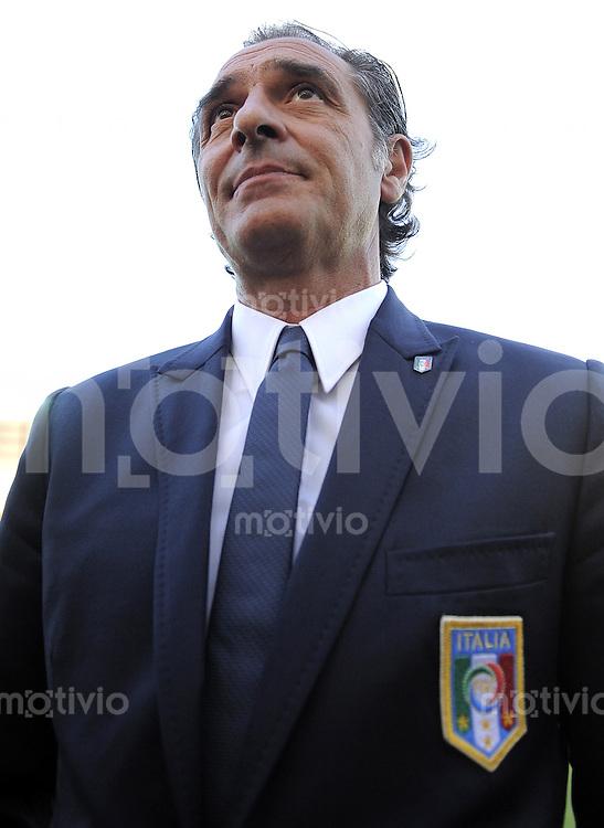 FUSSBALL INTERNATIONAL  Freundschaftsspiel  10.08.2011 Italien - Spanien Trainer Cesare PRANDELLI  (Italien)