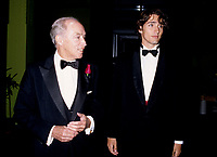 Pierre Eliott Trudeau (R) and his son Justin (L) <br /> enters the Bonsecour Market where a fundraiser event his held, September 1996, in Montreal, CANADA.<br /> <br /> Justin annonced he may be a Liberal Candidate in the2007 next Canadian election. <br /> <br /> Pierre Eliott Trudeau was Prime Minister of Canada from<br /> 1968&ndash;1979 and 1980-1984.  He died September 28, 2000<br /> <br /> <br /> Photo : (c) 1996.  Pierre Roussel - images Distribution