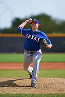 Texas Rangers pitcher Jacob Shortslef (41) during an instructional league game against the Seattle Mariners on October 5, 2015 at the Surprise Stadium Training Complex in Surprise, Arizona.  (Mike Janes/Four Seam Images)
