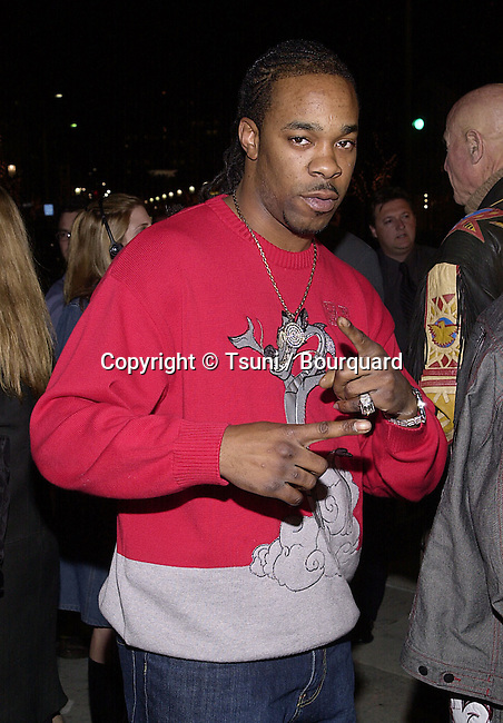 Busta Rhymes arriving at the 1ere of Exit Wound at the Mann Village Theatre in Los Angeles   3/13/01  © Tsuni          -            RhymeBusta01.jpg
