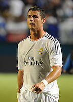 07.08.2013.Miami, Florida, USA. Cristiano Ronaldo Dossant(7) during the second half in a the final of the Guinness International Champions Cup between Real madrid and Chelsea. The game was won by a score of 3-1 by Real Madrid with Ronaldo scoring a brace.