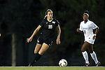 09 October 2014: Wake Forest's Claudia Day (18) and North Carolina's Amber Munerlyn (8). The University of North Carolina Tar Heels hosted the Wake Forest University Demon Deacons at Fetzer Field in Chapel Hill, NC in a 2014 NCAA Division I Women's Soccer match. UNC won the game 3-0.