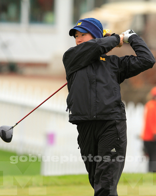 University of Michigan women's golf finished in eighth place at the 2011 Big Ten Championships at Lake Shore Country Club in Glencoe, IL, on April 24, 2011.