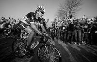 E3 Prijs Harelbeke 2012.Fabian Cancellara up the Oude Kwaremont