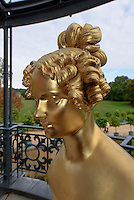 Büste Henriette Sontag, verh. Gräfin Rossi, 1806-1854, Neues Schloss im Fürst Pückler Park, Bad Muskau, Sachsen, Deutschland, Europa, UNESCO-Weltkulturerbe<br /> Bust of Henriette Sontag, mar. countessRossi, New Palace in Fürst Pückler Park, Bad Muskau, Saxony, Germany, Europe, UNESCO-World Heritage