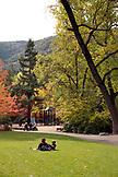 USA, Oregon, Ashland, Lithia Park in the Fall