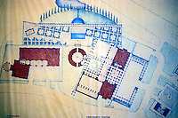 "Michael Graves: Plan of ""Aventine"". The hotel is to the right."