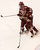 Andie Anastos (BC - 23), Caroline Ross (BC - 25) - The Boston College Eagles defeated the Boston University Terriers 3-2 in the first round of the Beanpot on Monday, January 31, 2017, at Matthews Arena in Boston, Massachusetts.