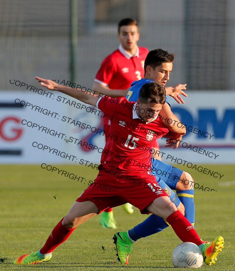 Nemanja Glavcic Srbija - Ukraina U21 (1996. godiste) omladinska reprezentacija Srbije 28.3.2017.( photo: Pedja Milosavljevic / STARSPORT)