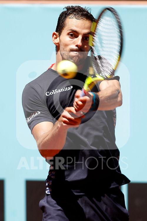 Santiago Giraldo, Colombia, during Madrid Open Tennis 2016 match.May, 3, 2016.(ALTERPHOTOS/Acero)