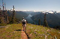 Joe Descending From Desolation Peak, North Cascades National Park, Washington, US