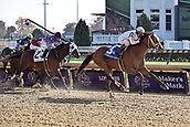 3rd November, 2018, Churchill Downs, Louisville, Kentucky, USA; Audible with Javier Castellano up wins the Cherokee Run Stakes. Churchill Downs racecourse.