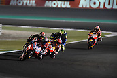 18th March 2018, Losail International Circuit, Lusail, Qatar; Qatar Motorcycle Grand Prix, Sunday race day; Andrea Dovizioso (Ducati) on his way to winning the MotoGP