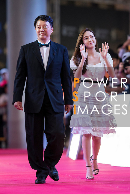 Jessica Jung walk the Red Carpet event at the World Celebrity Pro-Am 2016 Mission Hills China Golf Tournament on 20 October 2016, in Haikou, China. Photo by Victor Fraile / Power Sport Images