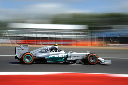 05.07.2014. Silversone, Northants, England. British F1 Grand Prix, Qualifying session.  Nico Rosberg; Mercedes Grand Prix on pole