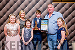 At the Lee Strand Kerry Garda Youth Achievement Awards 2016 in Ballyroe Heights on Friday were, from left. Amber Sugrue, Vera Sugrue, Caoimhe Sugrue, Ross Sugrue, Tralee Distinction Award Winner, Raymond Sugrue Eva Sugrue,